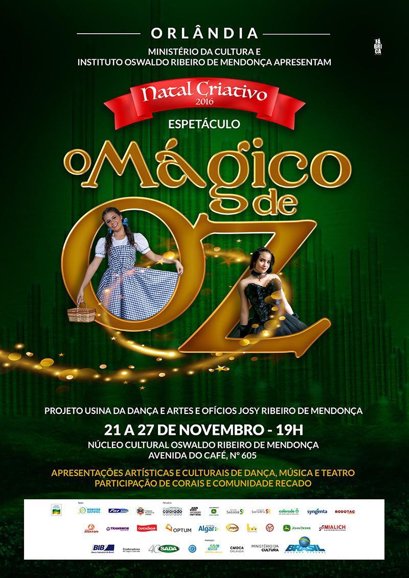 Natal Criativo 2016:  Usina da Dança prepara sua encenação para O Mágico de Oz