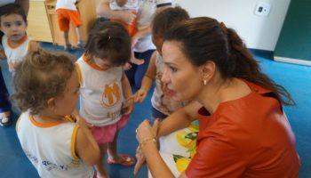 Casa da Criança recebe visita de sua presidente