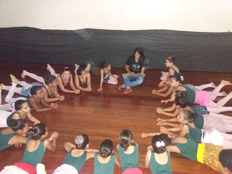 O encontro para Acolhida de famílias e alunos do polo Miguelópolis