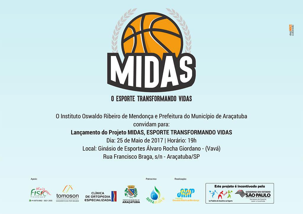 Lançamento do Projeto MIDAS, Esporte Transformando Vidas