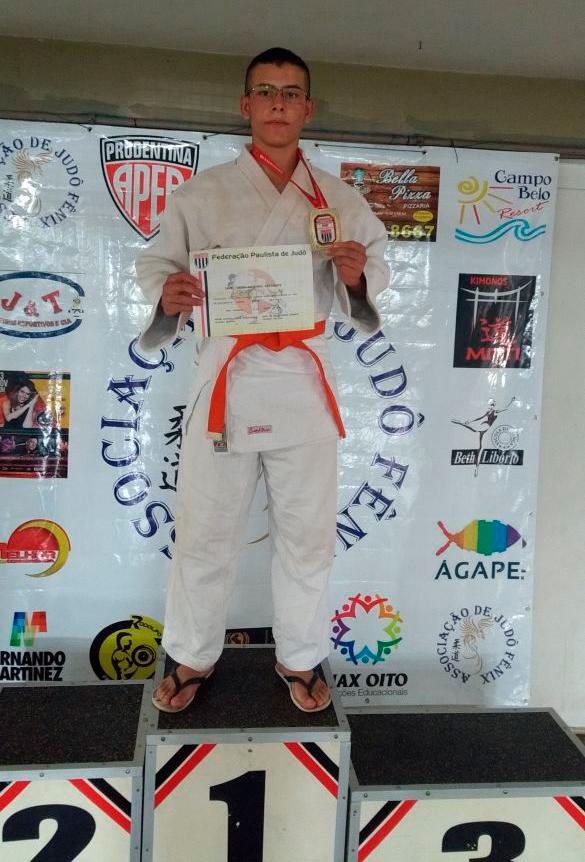 Aluno do Judô Branco Zanol IORM sagra-se campeão no Paulista Inter Regional em Presidente Prudente