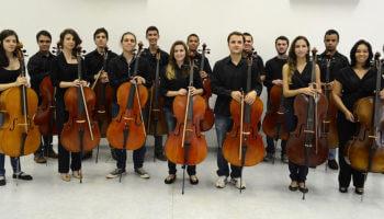 Sala Cinergia recebe concerto gratuito com Yuka Almeida Prado e Fratres Cello Ensemble