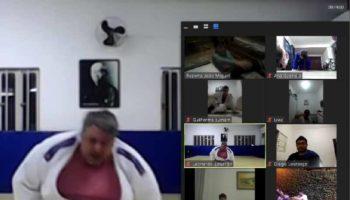 Alunos do Projeto Judô Branco Zanol Núcleo IORM participam de aula regional on-line